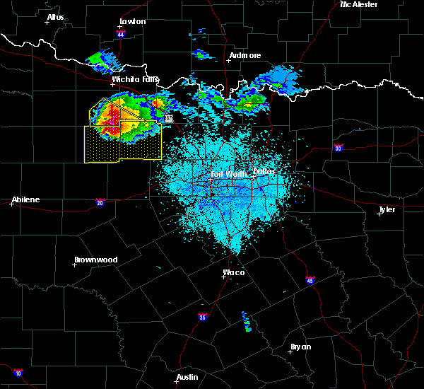 Radar Image for Severe Thunderstorms near Bryson, TX at 5/7/2020 8:51 PM CDT