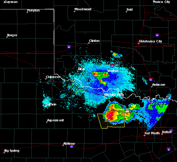 Radar Image for Severe Thunderstorms near Windthorst, TX at 5/7/2020 9:06 PM CDT