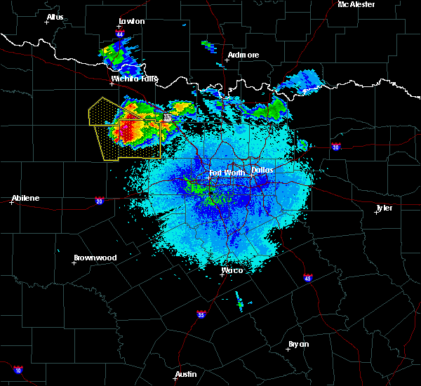 Radar Image for Severe Thunderstorms near Bryson, TX at 5/7/2020 9:08 PM CDT