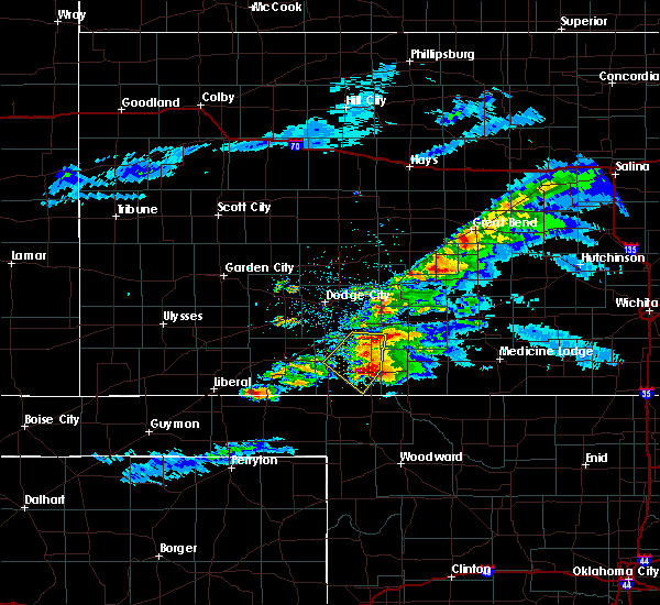 Radar Image for Severe Thunderstorms near Coldwater, KS at 5/7/2020 9:11 PM CDT