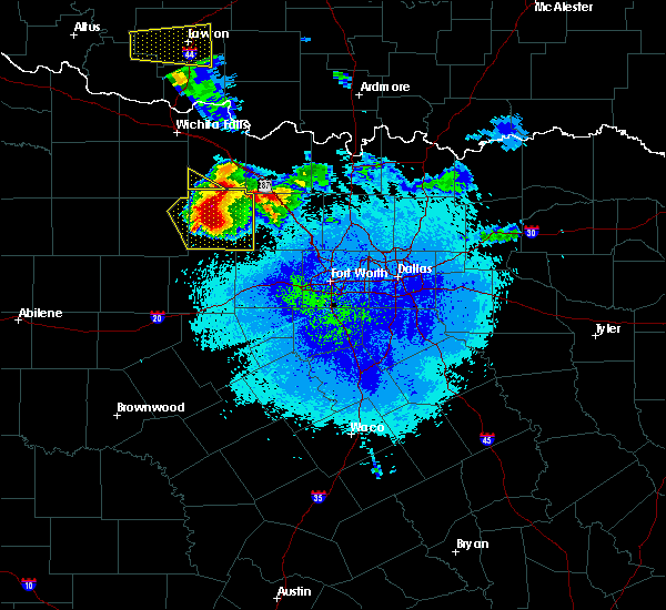 Radar Image for Severe Thunderstorms near Jacksboro, TX at 5/7/2020 9:20 PM CDT