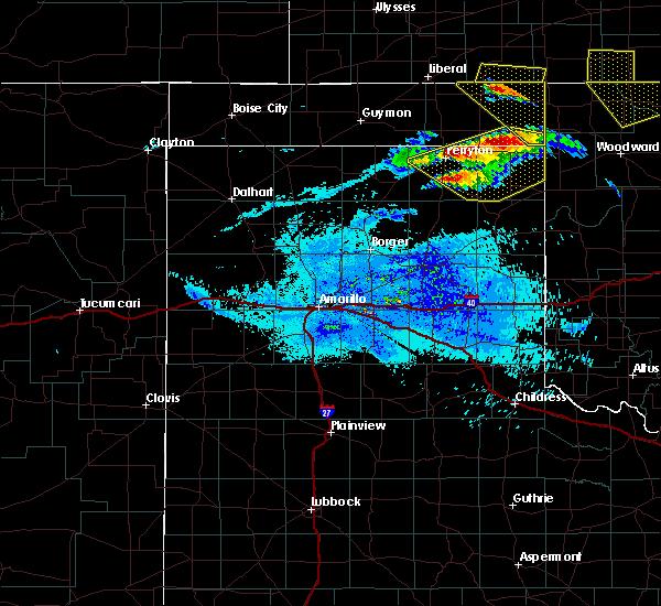 Radar Image for Severe Thunderstorms near Follett, TX at 5/7/2020 9:28 PM CDT
