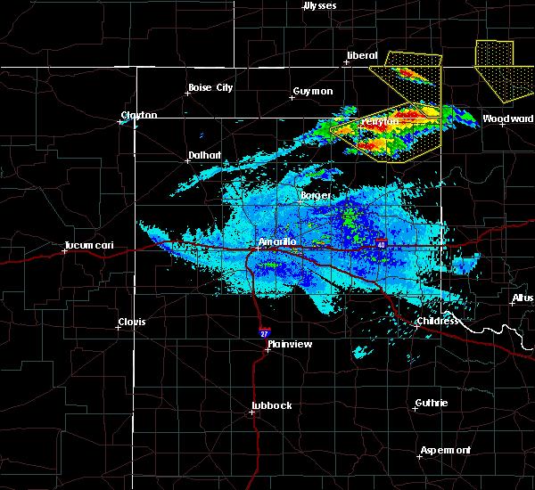 Radar Image for Severe Thunderstorms near Follett, TX at 5/7/2020 9:34 PM CDT