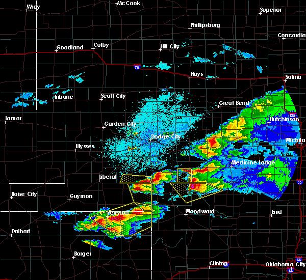 Radar Image for Severe Thunderstorms near Gate, OK at 5/7/2020 9:44 PM CDT