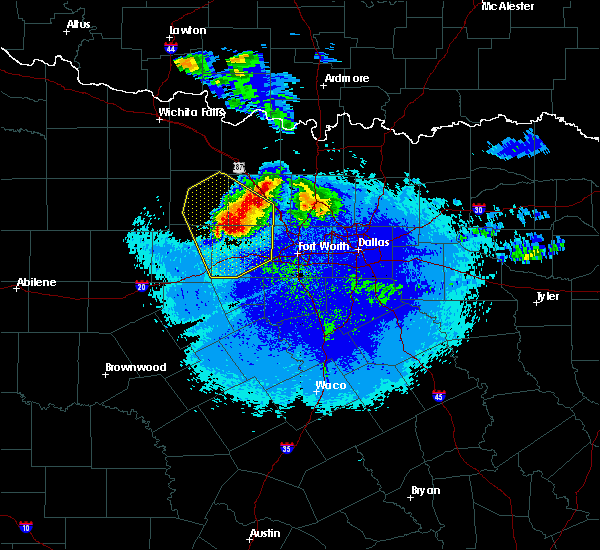 Radar Image for Severe Thunderstorms near Weatherford, TX at 5/7/2020 9:54 PM CDT