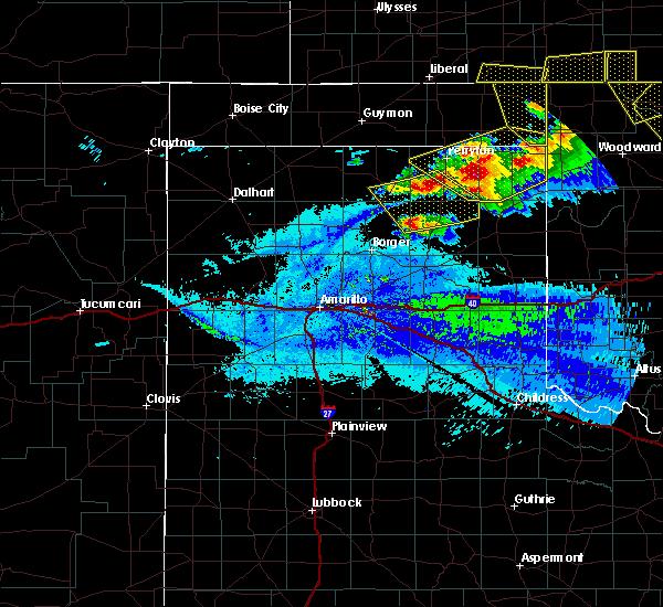 Radar Image for Severe Thunderstorms near Spearman, TX at 5/7/2020 9:58 PM CDT
