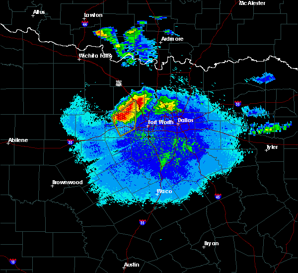 Radar Image for Severe Thunderstorms near Weatherford, TX at 5/7/2020 10:08 PM CDT