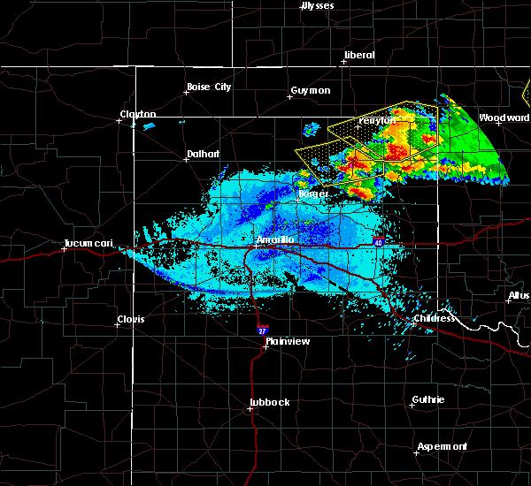 Radar Image for Severe Thunderstorms near Follett, TX at 5/7/2020 10:20 PM CDT
