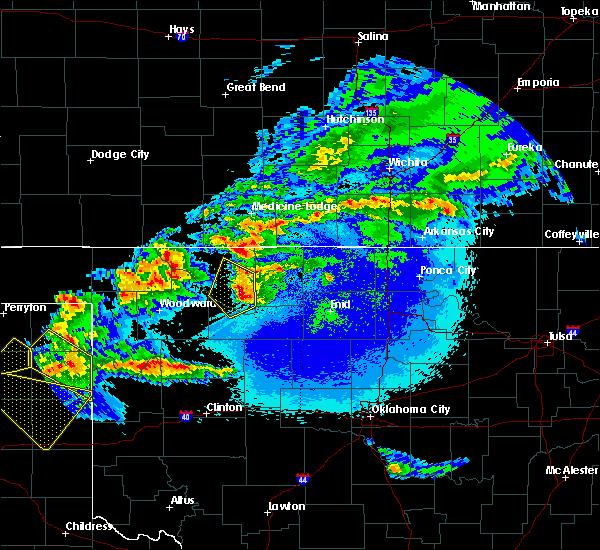 Radar Image for Severe Thunderstorms near Putnam, OK at 5/7/2020 10:42 PM CDT