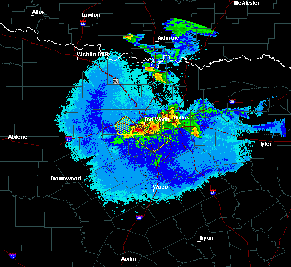Radar Image for Severe Thunderstorms near Cleburne, TX at 5/7/2020 10:50 PM CDT