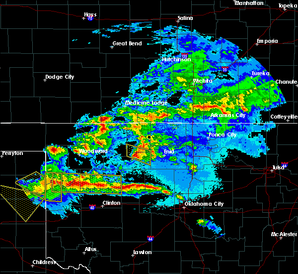 Radar Image for Severe Thunderstorms near Taloga, OK at 5/7/2020 11:08 PM CDT