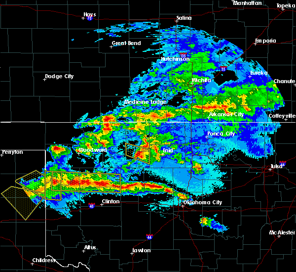 Radar Image for Severe Thunderstorms near Lahoma, OK at 5/7/2020 11:11 PM CDT