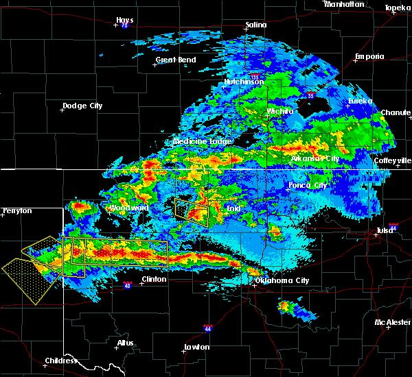 Radar Image for Severe Thunderstorms near Meno, OK at 5/7/2020 11:11 PM CDT