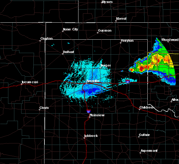 Radar Image for Severe Thunderstorms near Texola, OK at 5/7/2020 11:26 PM CDT
