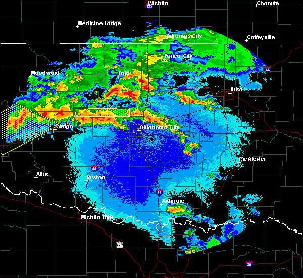 Radar Image for Severe Thunderstorms near Perry, OK at 5/7/2020 11:47 PM CDT