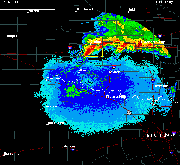 Radar Image for Severe Thunderstorms near Burns Flat, OK at 5/8/2020 12:34 AM CDT