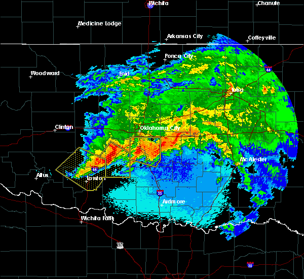Radar Image for Severe Thunderstorms near Etowah, OK at 5/8/2020 1:34 AM CDT