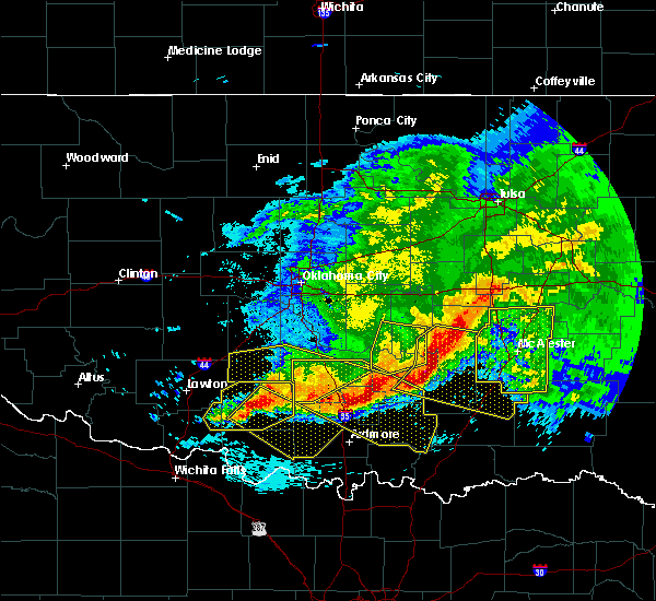 Radar Image for Severe Thunderstorms near Pittsburg, OK at 5/8/2020 2:17 AM CDT