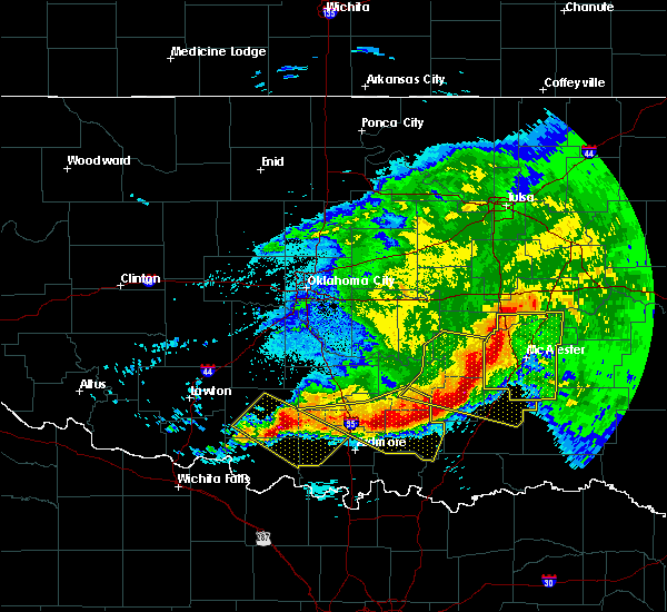 Radar Image for Severe Thunderstorms near Caney, OK at 5/8/2020 2:33 AM CDT