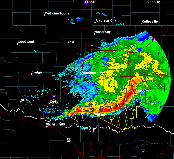 Radar Image for Severe Thunderstorms near Stuart, OK at 5/8/2020 2:36 AM CDT