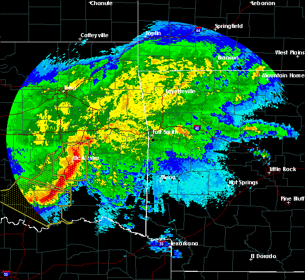 Radar Image for Severe Thunderstorms near Whitesboro, OK at 5/8/2020 2:52 AM CDT