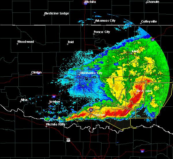 Radar Image for Severe Thunderstorms near Stringtown, OK at 5/8/2020 2:55 AM CDT