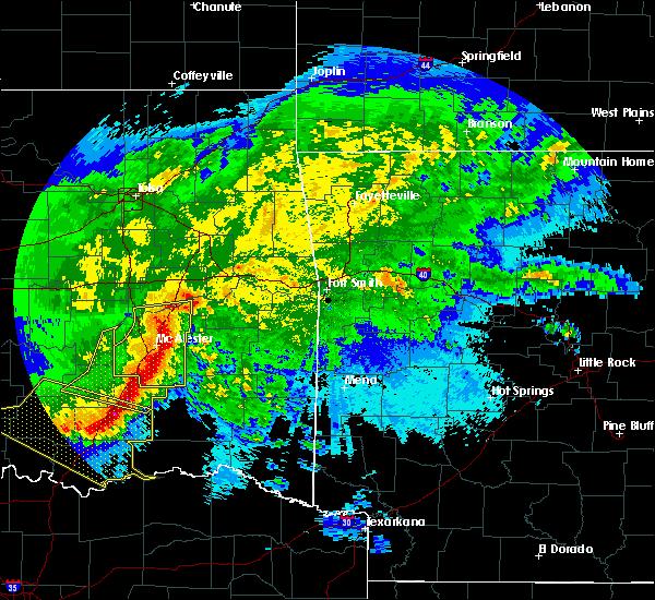 Radar Image for Severe Thunderstorms near Swink, OK at 5/8/2020 2:56 AM CDT