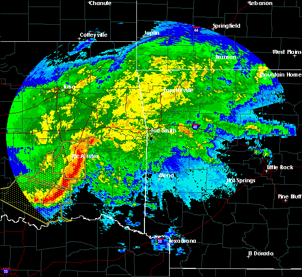 Radar Image for Severe Thunderstorms near Pittsburg, OK at 5/8/2020 2:58 AM CDT