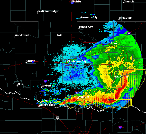 Radar Image for Severe Thunderstorms near Caney, OK at 5/8/2020 3:12 AM CDT