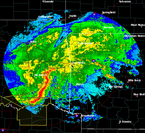 Radar Image for Severe Thunderstorms near Poteau, OK at 5/8/2020 3:25 AM CDT