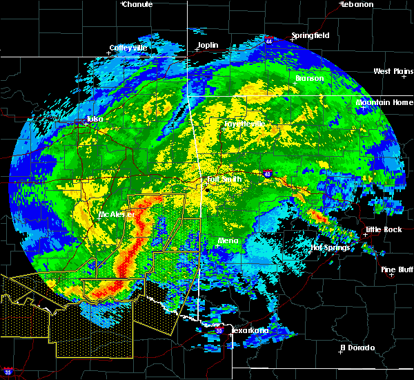 Radar Image for Severe Thunderstorms near Whitesboro, OK at 5/8/2020 3:34 AM CDT