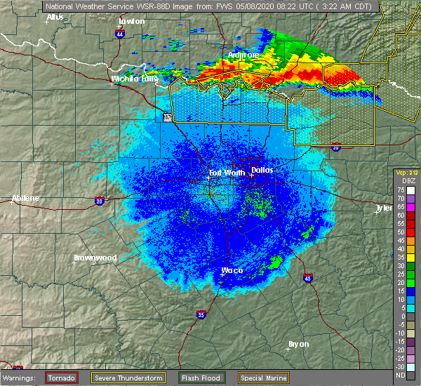 Radar Image for Severe Thunderstorms near Thackerville, OK at 5/8/2020 3:34 AM CDT