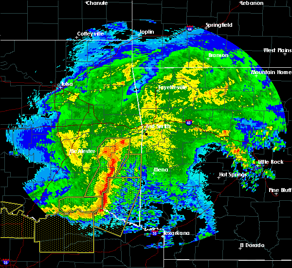 Radar Image for Severe Thunderstorms near Swink, OK at 5/8/2020 3:40 AM CDT