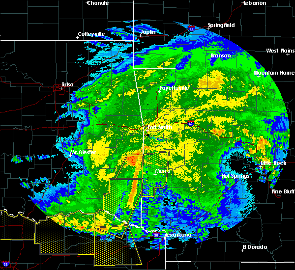 Radar Image for Severe Thunderstorms near Heavener, OK at 5/8/2020 4:10 AM CDT