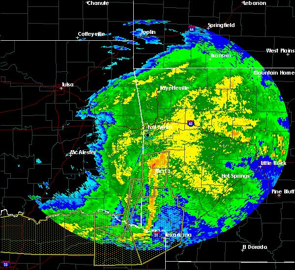 Radar Image for Severe Thunderstorms near Broken Bow, OK at 5/8/2020 4:28 AM CDT