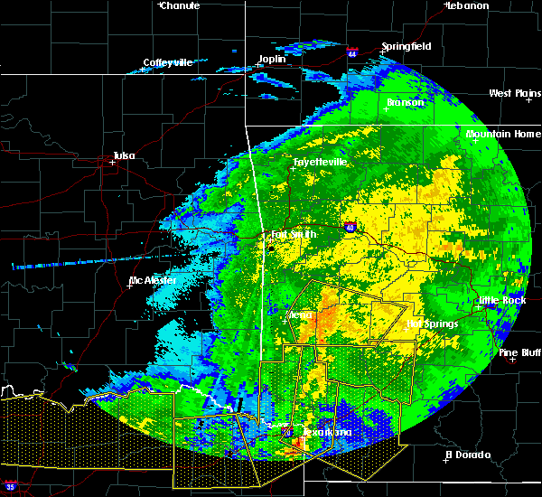 Radar Image for Severe Thunderstorms near Norman, AR at 5/8/2020 4:56 AM CDT