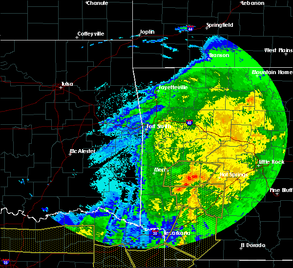 Radar Image for Severe Thunderstorms near Norman, AR at 5/8/2020 5:07 AM CDT