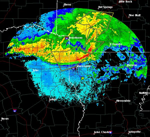 Radar Image for Severe Thunderstorms near Magnolia, AR at 5/8/2020 5:45 AM CDT