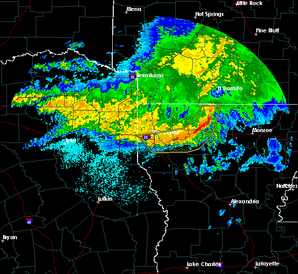 Radar Image for Severe Thunderstorms near Sibley, LA at 5/8/2020 6:18 AM CDT