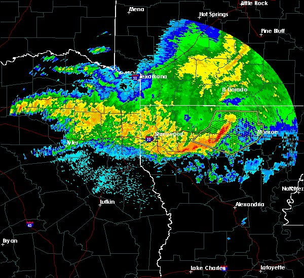 Radar Image for Severe Thunderstorms near Claiborne, LA at 5/8/2020 6:42 AM CDT