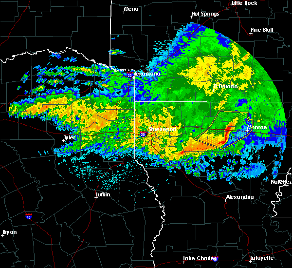 Radar Image for Severe Thunderstorms near Claiborne, LA at 5/8/2020 6:58 AM CDT