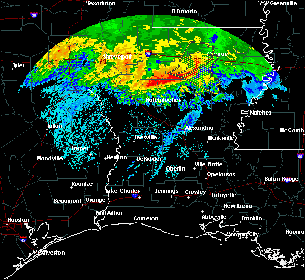 Radar Image for Severe Thunderstorms near Claiborne, LA at 5/8/2020 7:08 AM CDT