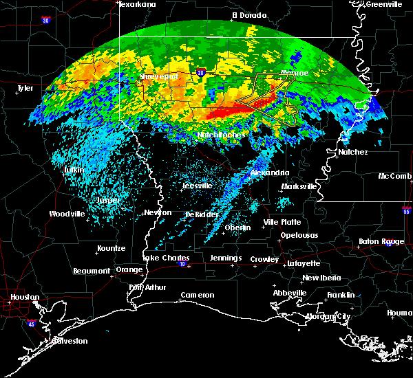 Radar Image for Severe Thunderstorms near Wisner, LA at 5/8/2020 7:23 AM CDT