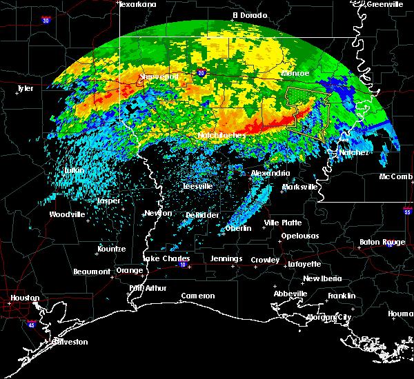 Radar Image for Severe Thunderstorms near Wisner, LA at 5/8/2020 7:51 AM CDT