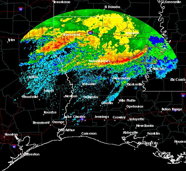 Radar Image for Severe Thunderstorms near Wisner, LA at 5/8/2020 8:08 AM CDT