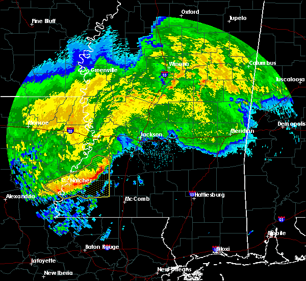 Radar Image for Severe Thunderstorms near Crystal Springs, MS at 5/8/2020 9:07 AM CDT