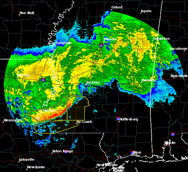 Radar Image for Severe Thunderstorms near Crystal Springs, MS at 5/8/2020 9:25 AM CDT