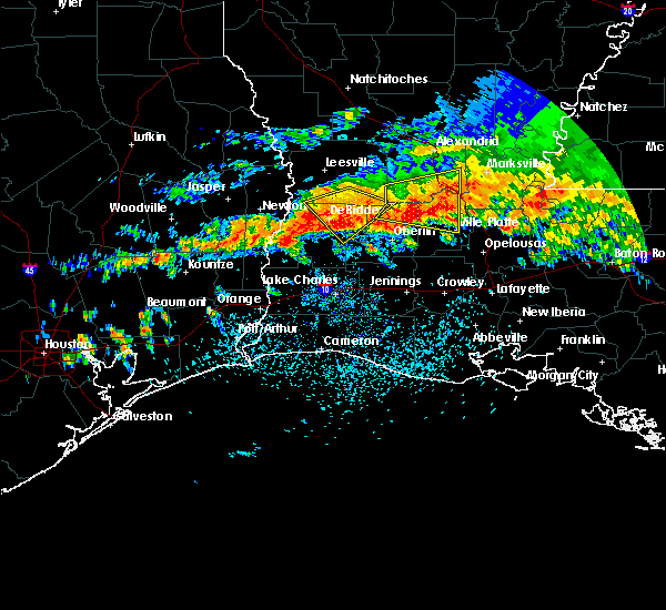 Radar Image for Severe Thunderstorms near Longville, LA at 5/8/2020 2:20 PM CDT