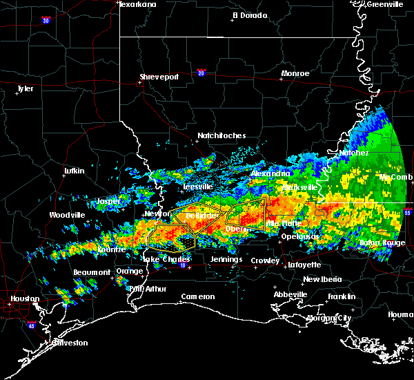 Radar Image for Severe Thunderstorms near Ville Platte, LA at 5/8/2020 2:29 PM CDT