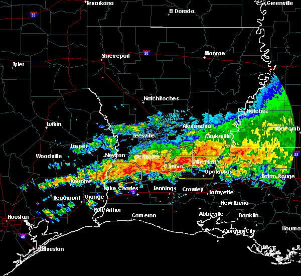 Radar Image for Severe Thunderstorms near Ville Platte, LA at 5/8/2020 2:38 PM CDT